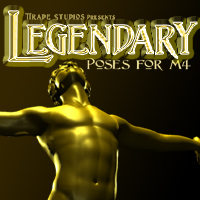 Legendary Poses for M4 3D Figure Assets SeverD
