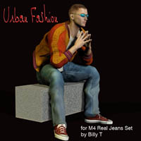 Urban Fashion for M4 real jeans set 3D Figure Assets zachary