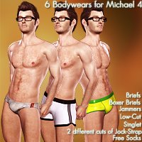 BodyWears for Michael 4 3D Figure Assets phs7ven