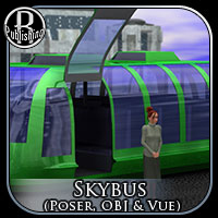 Sky Bus (Poser, OBJ & Vue) Themed Transportation Props/Scenes/Architecture RPublishing