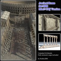 Ancient Rome Set 2008 - Max7 Obj Version 3D Models rodluc2001