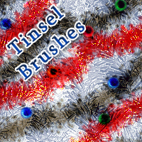 Tinsel Brushes 3D Models 2D Graphics mystikel