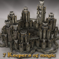 7 Keepers of magic 3D Models deadhead