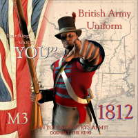 1812 British Army Uniform 3D Figure Assets lakota