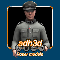 WW2 SS officer 3D Models 3D Figure Essentials adh3d