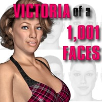 Victoria of 1,001 Faces 3D Figure Essentials 2D Angela3D