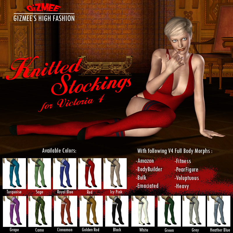 Knitted Stockings for V4
