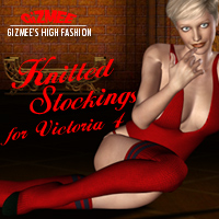 Knitted Stockings for V4 3D Figure Essentials gizmee