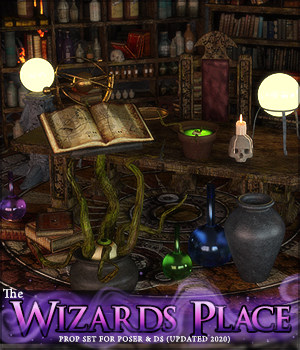 The Wizards Place 3D Models LukeA