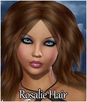 Rosalie Hair for V4, A4, G4 3D Figure Assets RPublishing