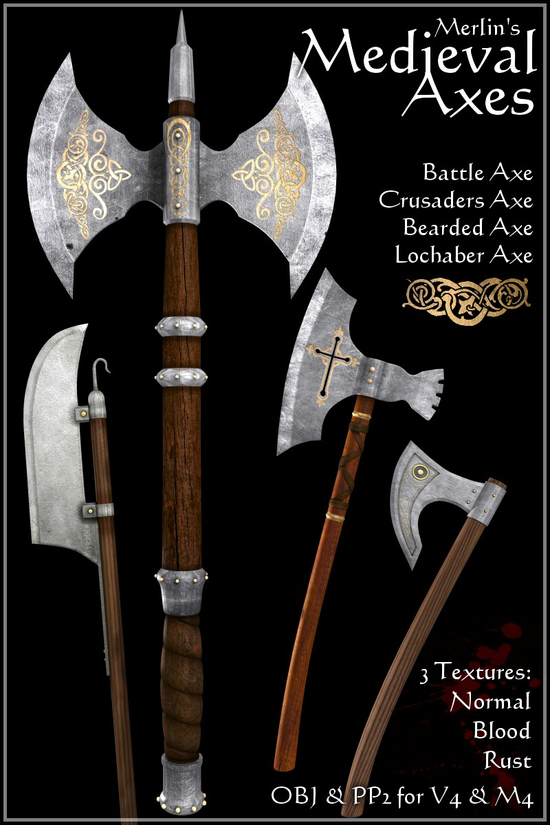 Merlin's Medieval Axes by Merlin_Studios