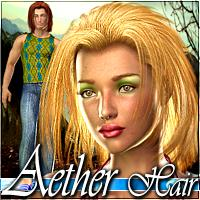 Aether Hair 3D Figure Assets Mairy