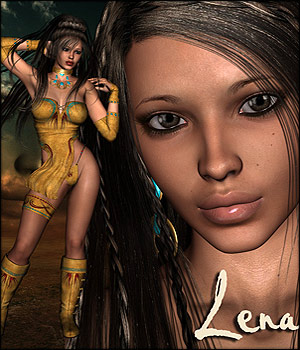 Lena V4 Character and Clothing 3D Figure Assets RPublishing