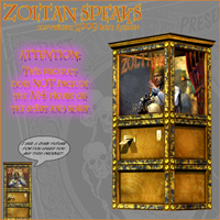 Zoltan Speaks Arcade Fortune Teller Machine by LukeA