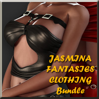 Fantasies Clothing Bundle with Bonus Pose Pack 3D Figure Essentials jasmina