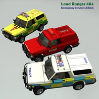 Land Ranger Emergency addon 3D Models Simon-3D