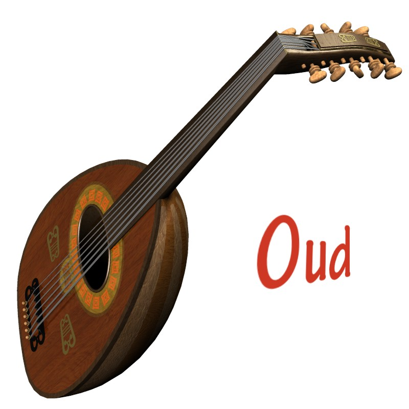 Oud musical instrument 3d figure assets 3d models simon 3d - Kind oud ...