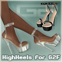 HighHeel Shoes for G2Female 3D Figure Essentials _Al3d_