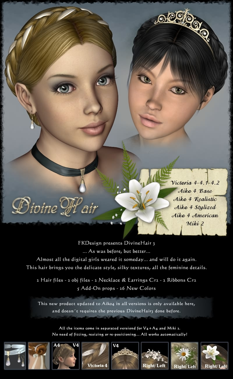 DivineHair III for V4+A4+Miki2 by fabiana