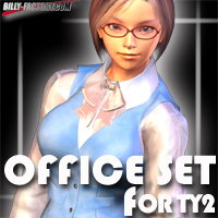 TY2 Office Set 3D Figure Assets billy-t