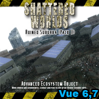 SW_Ruined Suburbs (Pack3) 3D Models MRX3010