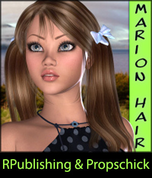 Marion Hair for V4/A4 3D Figure Assets RPublishing