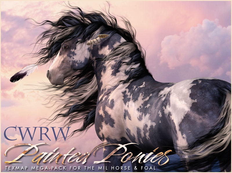 CWRW Painted Ponies TexMap MegaPack