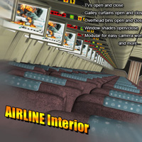 Airline Interior 3D Models Sveva