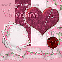 Sew & Sew Valentina Fabric Pack 2D Graphics macatelier