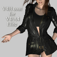 V4H coat for V4/A4 3D Figure Assets kobamax