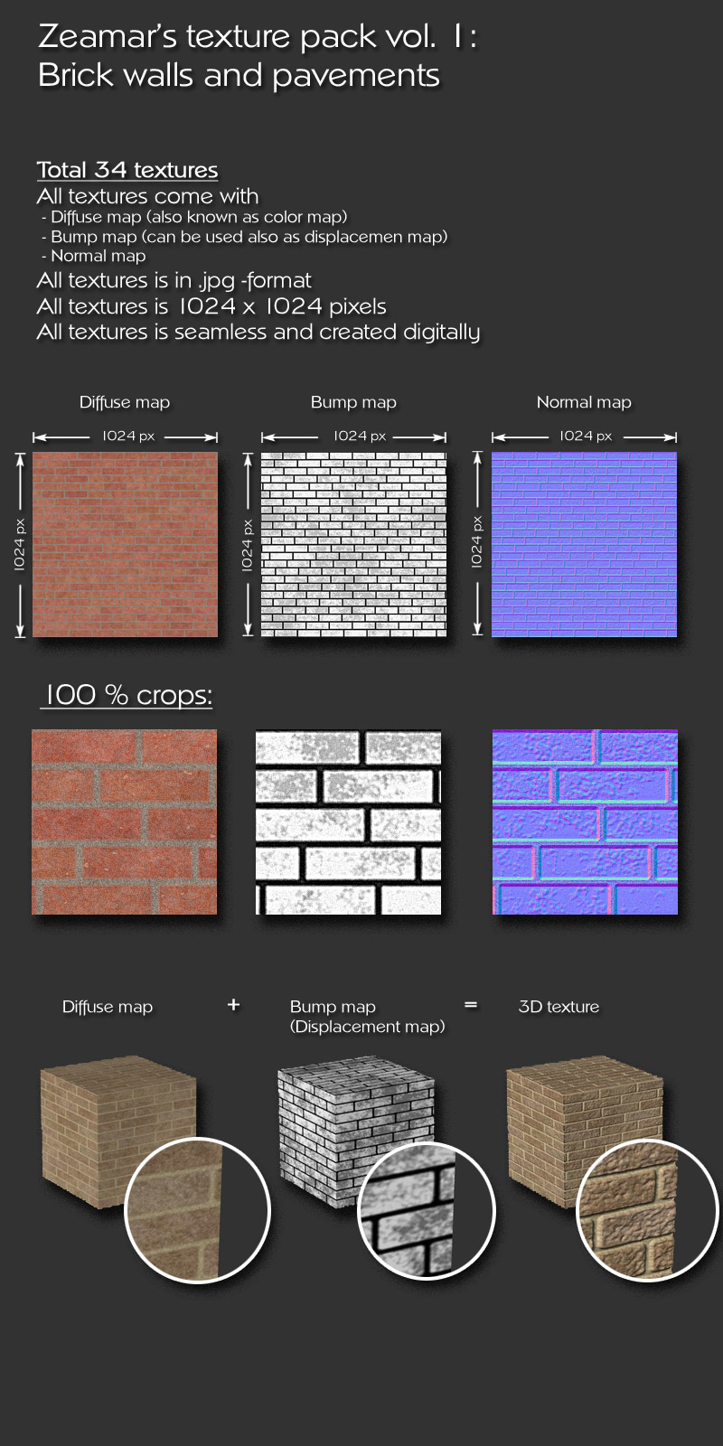 Zeamars texture pack vol 1 - Brick walls and pavements