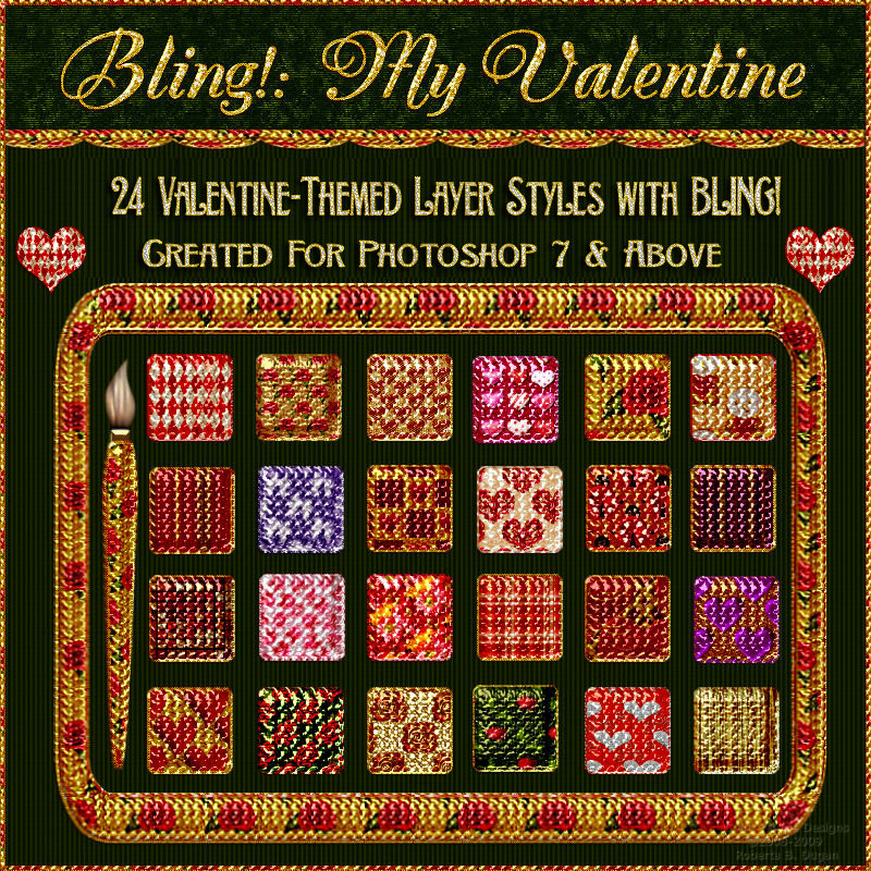 Bling! My Valentine Layer Styles