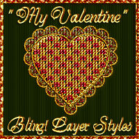 Bling! My Valentine Layer Styles 2D Graphics fractalartist01