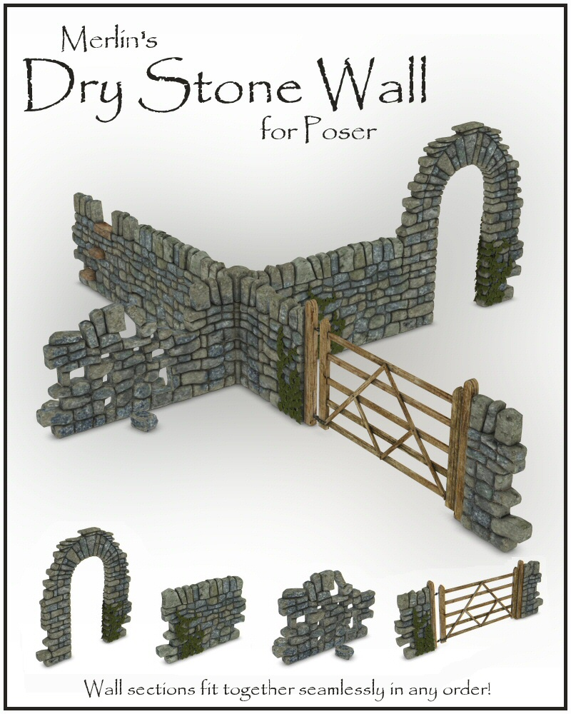Merlin's Dry Stone Wall by Merlin_Studios