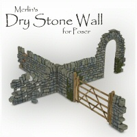 Merlin's Dry Stone Wall Props/Scenes/Architecture Themed Merlin_Studios