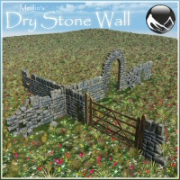 Merlin's Dry Stone Wall Vue Version 3D Models Merlin_Studios