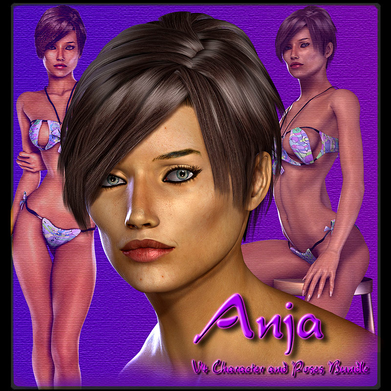 Anja V4 Character and Poses Bundle