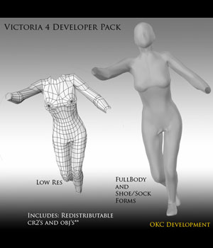 Developer Pack for Victoria 4 3D Figure Assets OKCRandy