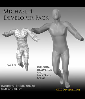 Developer Pack for Michael 4 3D Figure Assets OKCRandy