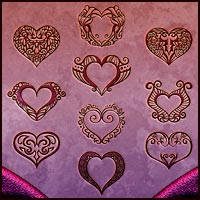 DW - Heart Brushes 2D Graphics 3D Models DreamWarrior