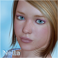 Neila for V4.2 3D Figure Assets moonbunnie