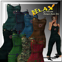 Relax for V4A4 Salopet Jeans Set  zachary