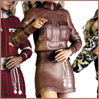 Textures For JacketsGirl by Cute3d