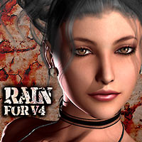 MH Rain for V4 3D Figure Assets manihoni