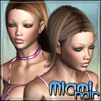 Miami Hair 3D Figure Assets outoftouch