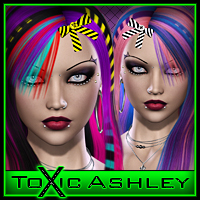ToXic Ashley Hair Silver