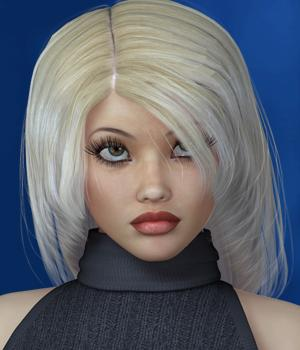Christalle Hair for V4 3D Figure Assets SWAM