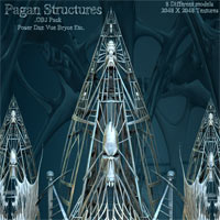Pagan Structures .OBJ Pack 3D Models Poisen