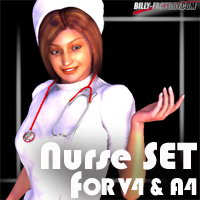 V4A4 Nurse Set 3D Figure Assets billy-t
