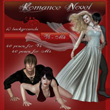 Romance Novel - V4/M4 3D Models 2D Graphics 3D Figure Assets ilona